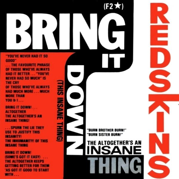 Redskins - Bring It Down (This Insane Thing) (10) (RSD 2019)