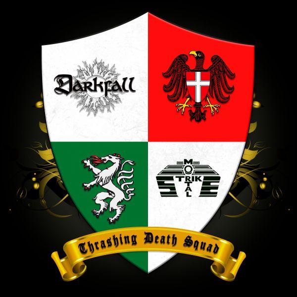 Darkfall / Mortal Strike - Thrashing Death Squad (Split CD)