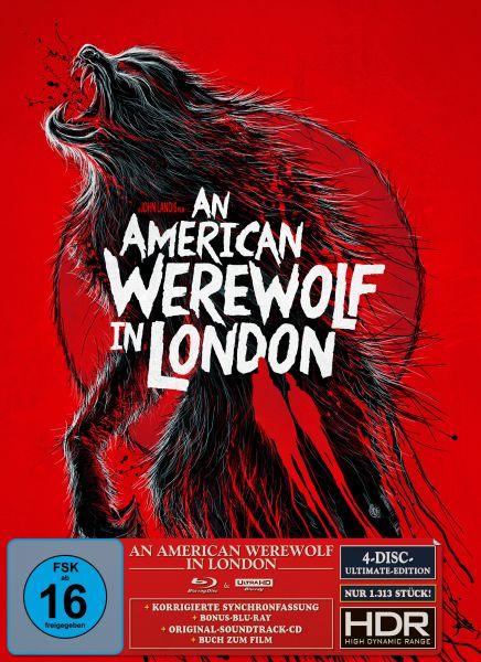 An American Werewolf in London - Ultimate Edition B - (UHD + 2 Blu-ray + CD) (S.Woolston Artwork)