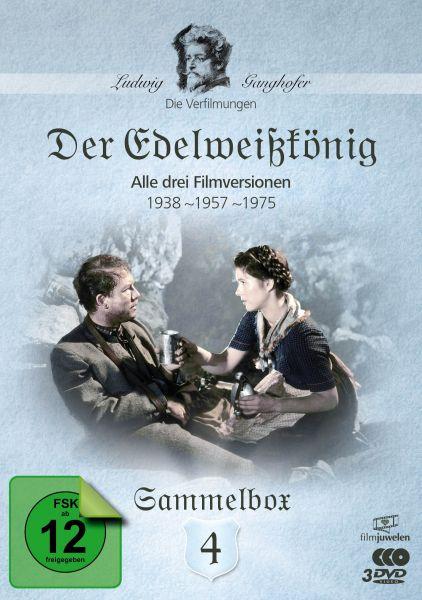 Der Edelweißkönig (1938, 1957, 1975) - Die Ganghofer Verfilmungen - Sammelbox 4