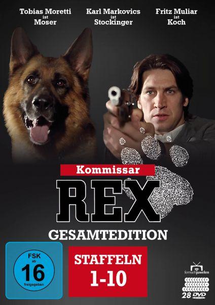 Kommissar Rex - Gesamtedition (Staffeln 1 bis 10 - Alle 119 Folgen) + Bonus-Disc (28 DVDs)
