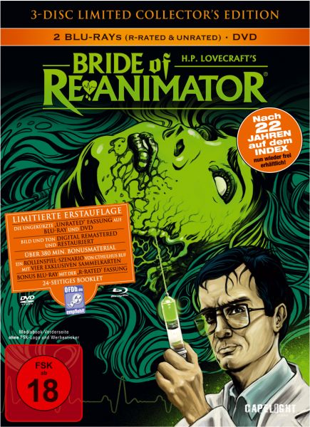 Bride Of Re-Animator (3-Disc Limited Collector's Edition Mediabook)