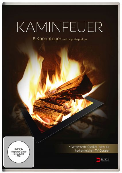 Kaminfeuer (gedreht in 4K Ultra High Definition)