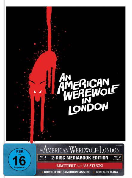 AN AMERICAN WEREWOLF IN LONDON 2-Disc-Mediabook (Blu-ray + Bonus-Blu-ray) (US-Artwork) - 333 Stk.