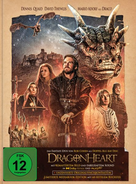 Dragonheart - Remastered Mediabook Edition (Cover C) (Doppel-Blu-ray mit Dolby Atmos + AURO-3D)
