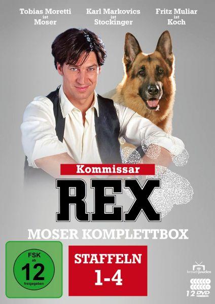 Kommissar Rex - Moser Komplettbox (Alle 4 Staffeln mit Tobias Moretti) (12 DVDs)